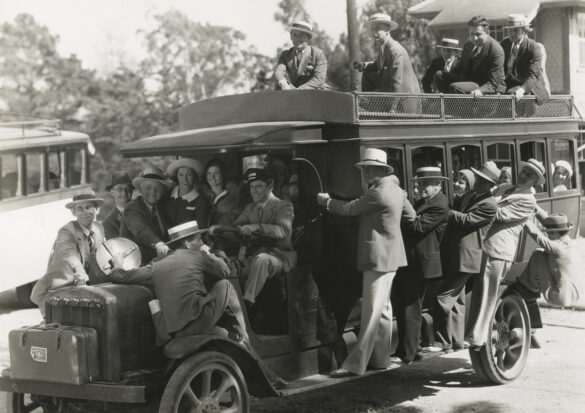 People Packed on a Bus